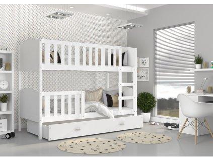 Dobby Biela Color poschodová posteľ