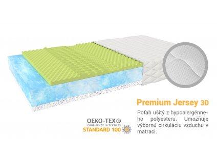 Priedušný latexový matrac Mariana 200x160