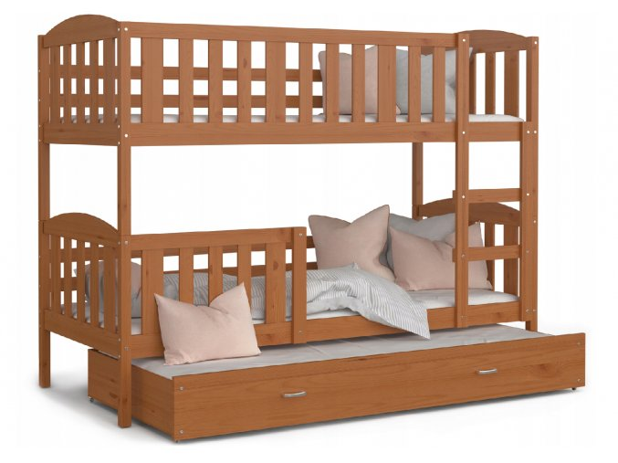 Jakub 3 jelša 190x80 - poschodová posteľ s prístelkou