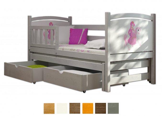 Veronika 5 180x80 posteľ s prístelkou