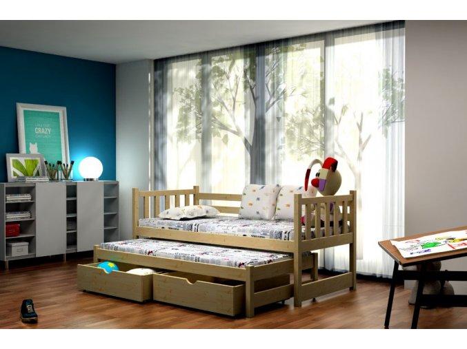 Veronika 6 180x80 posteľ s prístelkou