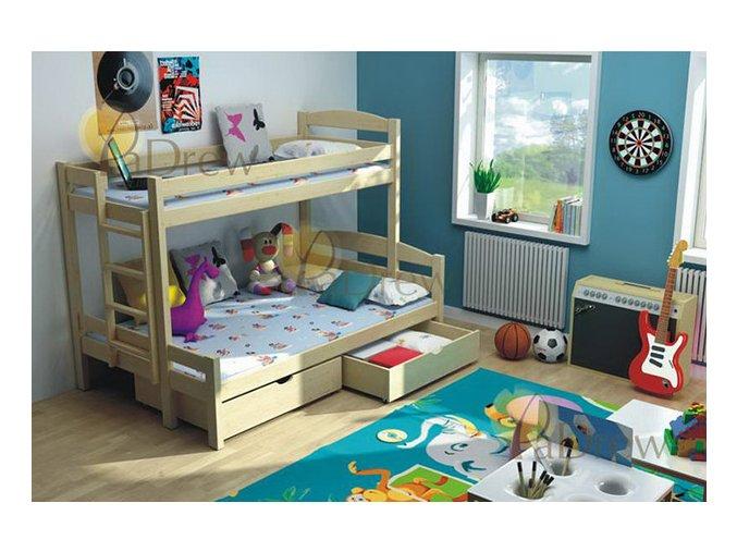 Petra 4 180x120 Rozšírené poschodové postele z masívu