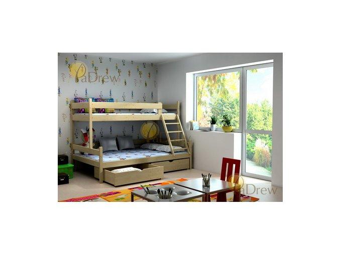 Petra 6 200x120 Rozšírená poschodová posteľ