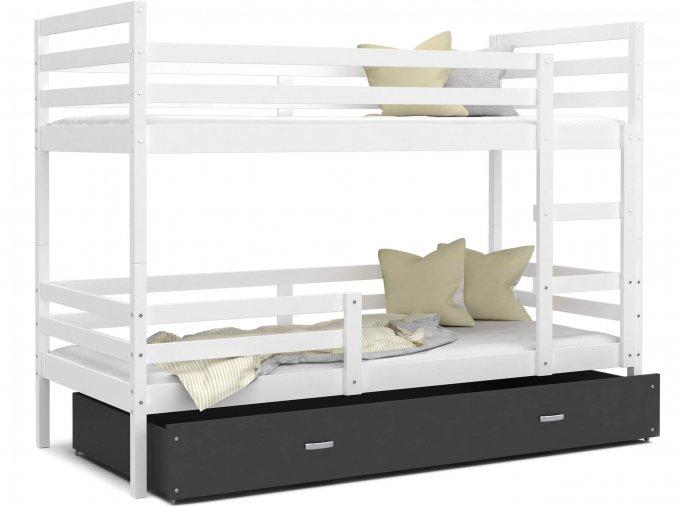 Poschodová posteľ Erik 2 Biela Color MDF 190x80