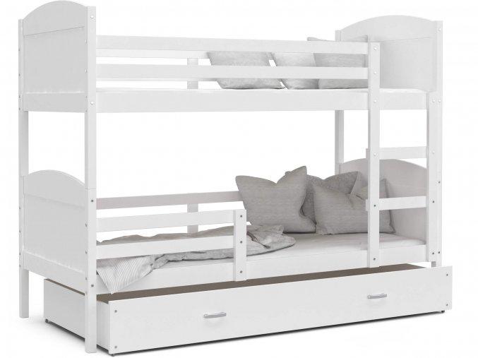 Mates biela poschodová posteľ Color MDF 190x80