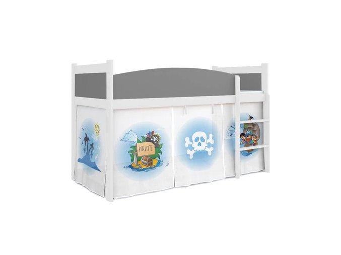 Vyvýšená detská posteľ Swing piráti II. 05 matrac + rošt zadarmo