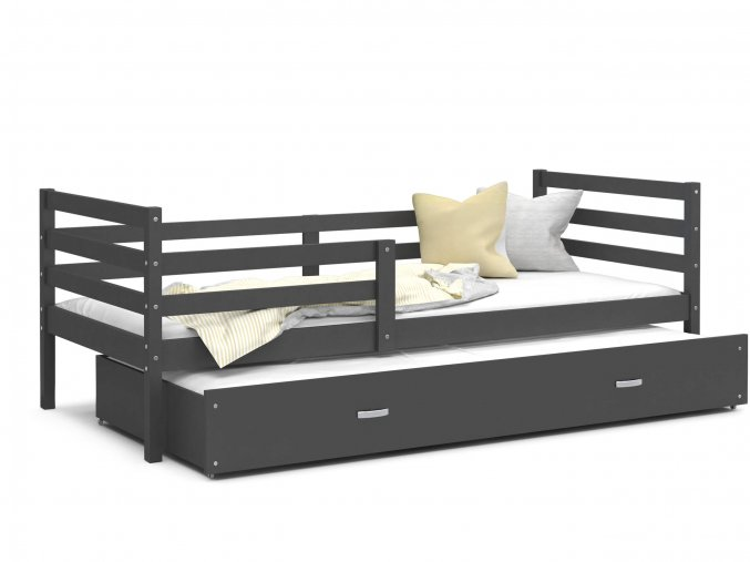 Racek P2 190x80 posteľ s prístelkou Color sivá MDF- viac farieb