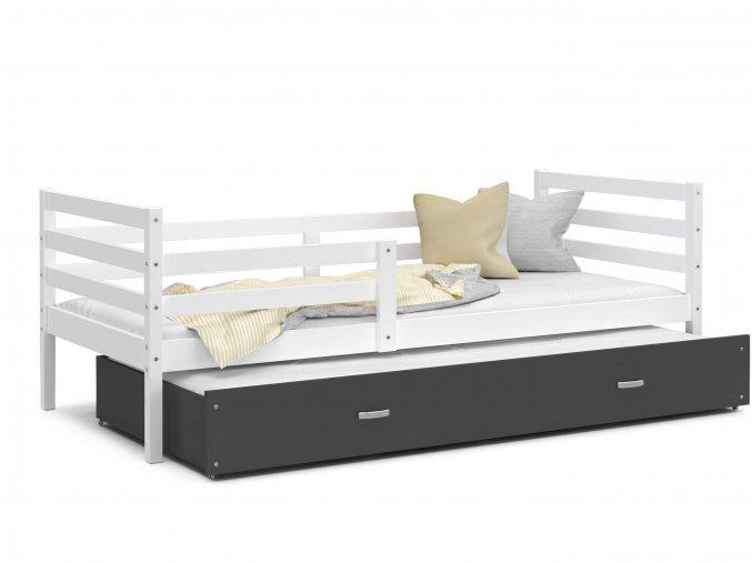 Racek P2 Color biela posteľ s prístelkou 190x80 MDF- viac farieb