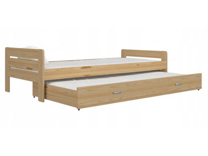 Cristo P 200x90 borovica rozkladacia postel s prístelkou