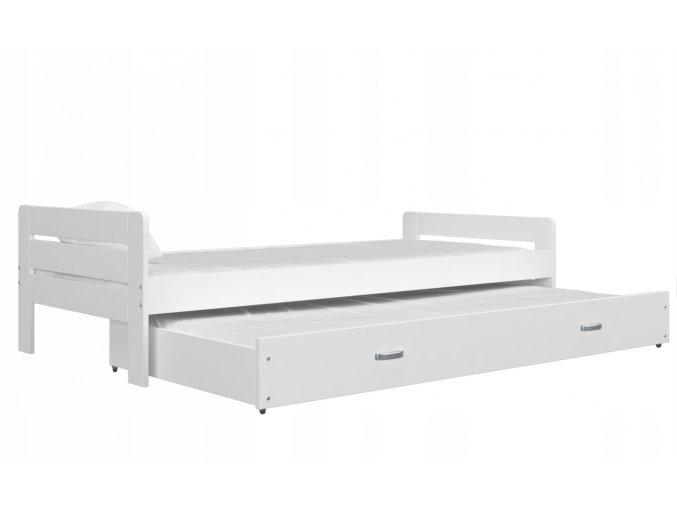 Cristo P biela posteľ s výsuvnou prístelkou 200x90