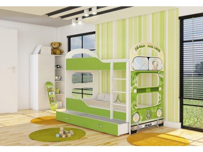 Patrik 2 poschodová posteľ 160x80 motív - 03D