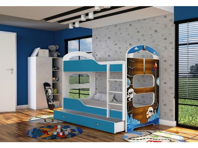 Patrik 2 poschodová posteľ 160x80 - 04D