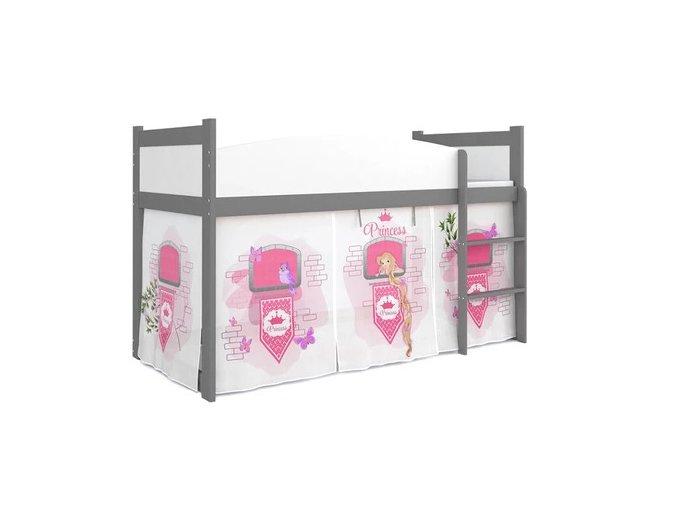 Vyvýšená siivá posteľ Swing zámok 08 s roštom a matracom