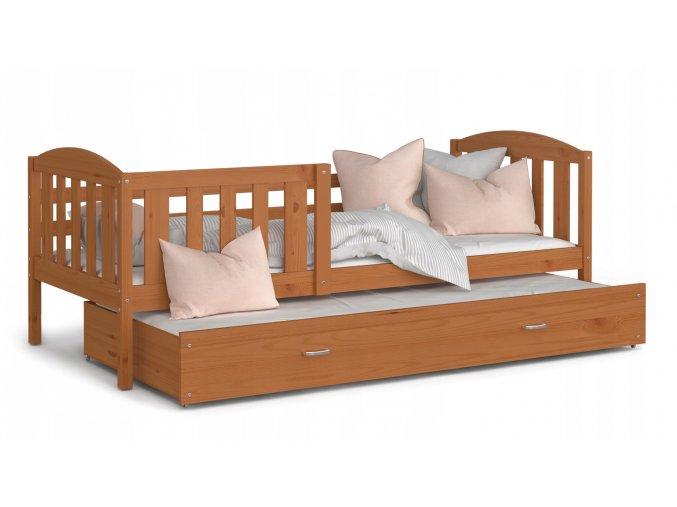 Kuba P2 posteľ 190x80 jelša