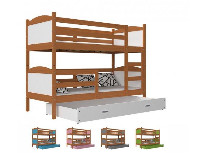 Mates jelša poschodová posteľ 190x80