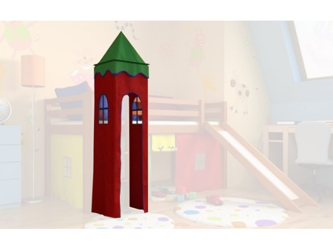 Vežička na vyvýšenú posteľ Gabi/Gabika - rôzne farby