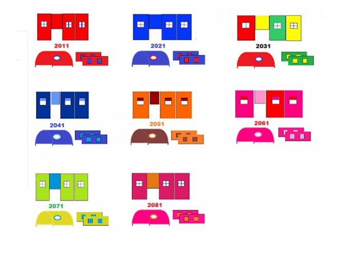 Strecha na vyvýšenú posteľ Gabi/Gabika - viac farieb