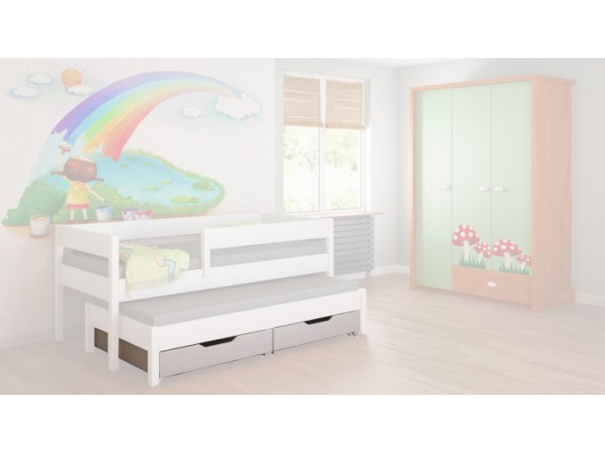 úložný box biely pre posteľ junior 140x70