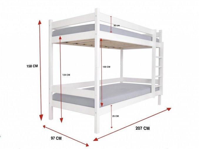 Najlacnejšia poschodová posteľ Paulína 200x90