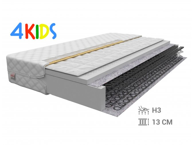 Pružinový matrac s pohánkou 160x70x13 Bambino Normal