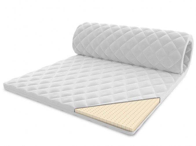 Vrchný matrac z latexu 200x200 - 2 cm