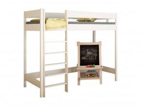 Vyvýšená detská posteľ Hugo Pred biela 180x90