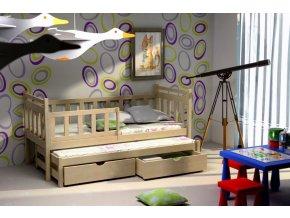 Detské postele s prístelkou Veronika 4 200 x 90