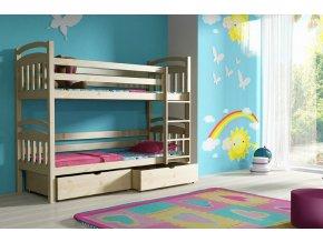 Poschodová posteľ s úložným priestorom Paula 3 200x90