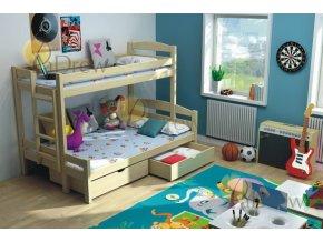 Petra 4 200x120 Rozšírená poschodová posteľ