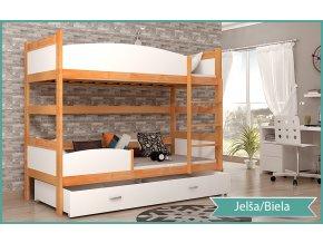 Twist 2 Color poschodová posteľ Jelša