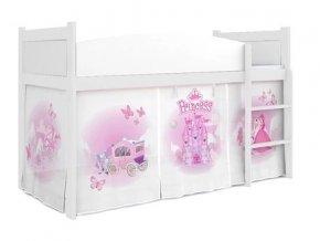 Vyvýšená detská posteľ Swing princezná 06 rošt + matrac zadarmo