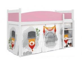 Swing vyvýšená posteľ pre deti zámok 07 + matrac a rošt