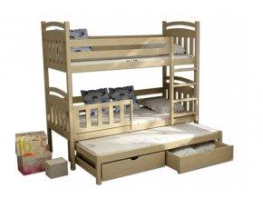 Poschodová posteľ pre troch Petra 1 180x80