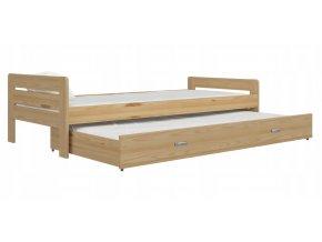 Cristo 200x90 borovica rozkladacia postel s prístelkou