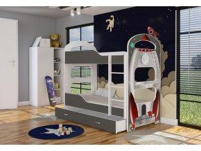 Poschodová posteľ 160x80 Patrik 2  - 01D