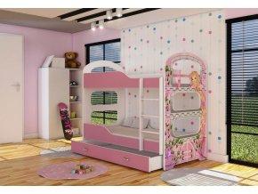 Poschodová posteľ s úložným boxom Patrik 2 160x80 - 02D