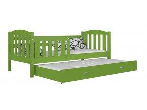 Kuba P2 zelená Color posteľ s prístelkou a úložným priestorom