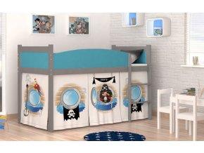 Swing piráti 04 sivá detská posteľ rošt + matrac zadarmo