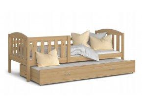 Borovicová posteľ Kuba P2 190x80