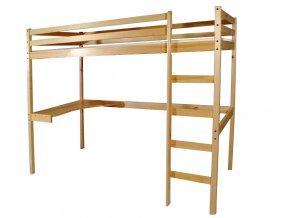 Timo natura detské poschodové postele s písacim stolom