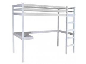 Vyvýšená detská posteľ Timo Biela so stolíkom
