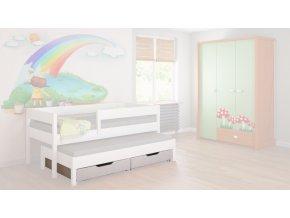 úložný box pod posteľ 160x80 biely