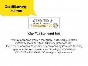 Penové matrace Millo 200x90 (2ks) - 1+1