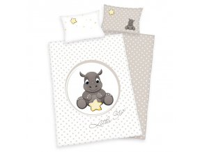 Detské bavlnené obliečky 100x135 - Nosorožec