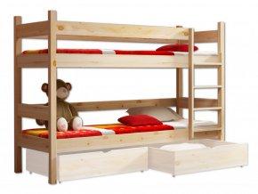 Najlacnejšia vyvýšená poschodová posteľ Paulína XL 200x90