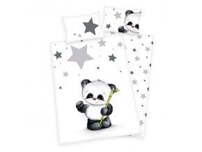 Detské bavlnené obliečky 100x135+40x60 - Malá panda