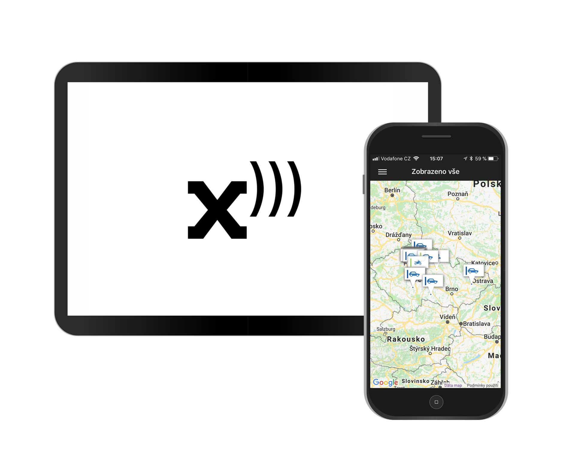 Mobilní aplikace Positrex - kniha jízd