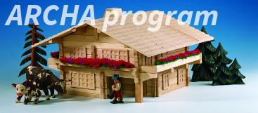 Dřevěné stavebnice ARCHA program