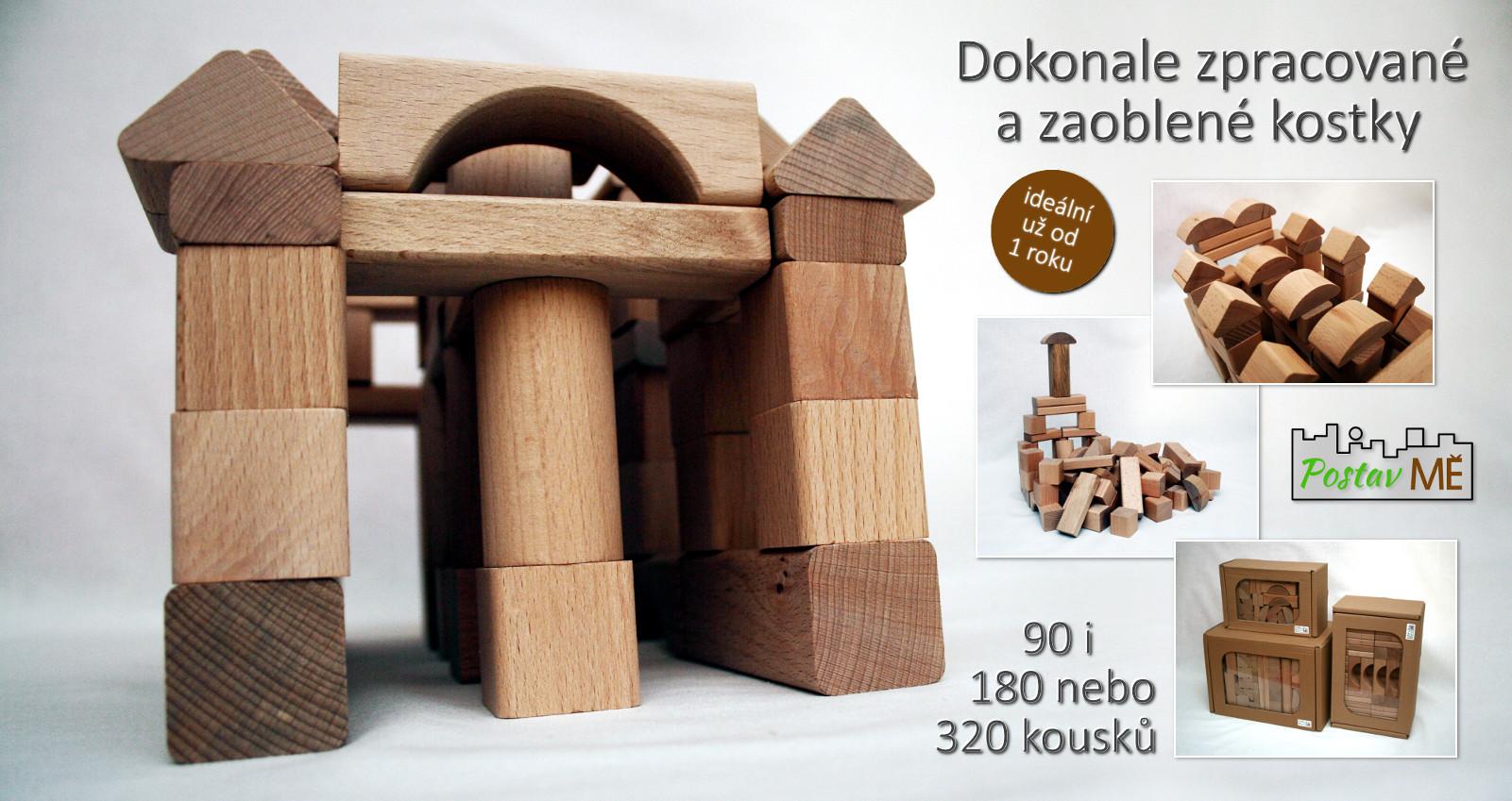 Dřevěné kostky Postav MĚ