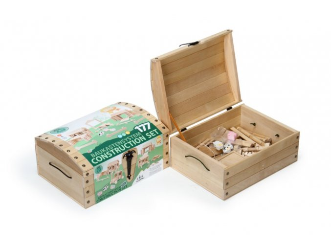 VARIS Speciální konstrukční sada v dřevěném boxu 177 dílků